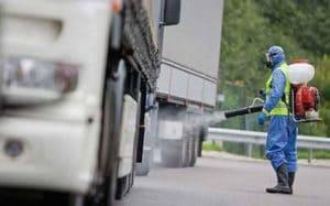 Дезинфекция автомобилей для безопасной перевозки грузов